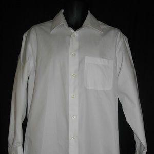 Joseph & Feiss Men's White Long Sleeve Shirt